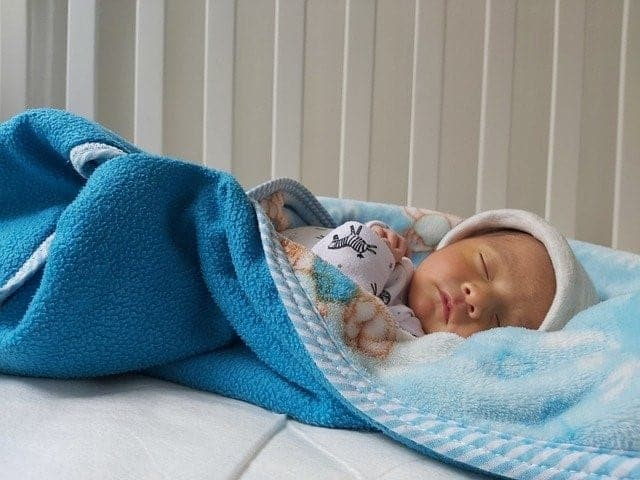 blue blanket baby