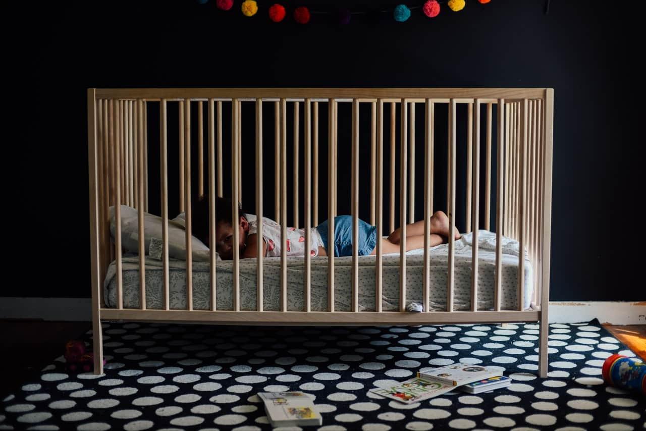 dark baby bedroom
