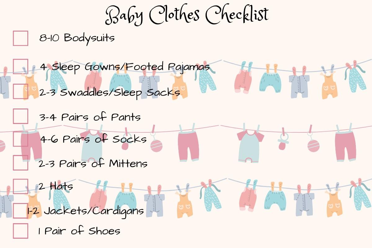 baby clothes checklist
