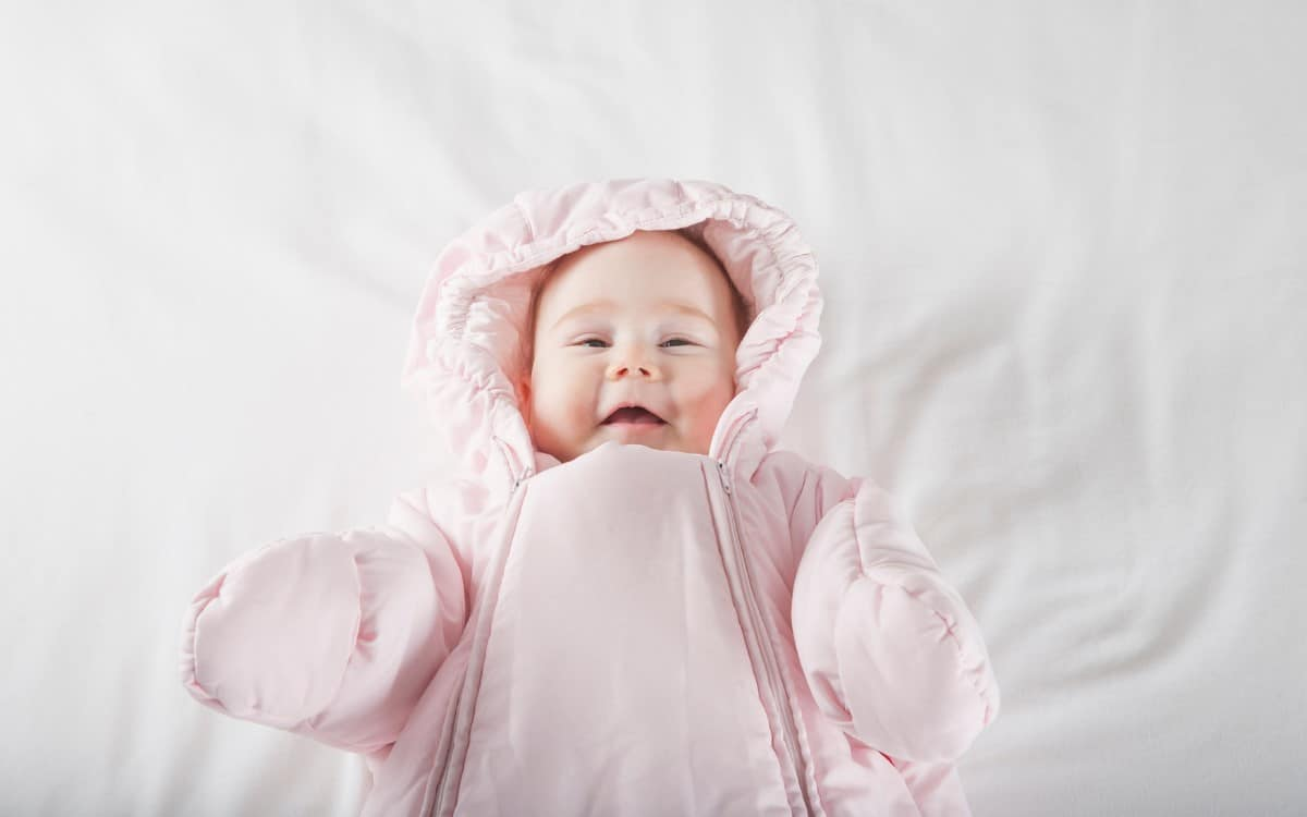 baby wearing jacket