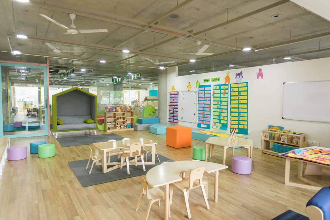 neat daycare room