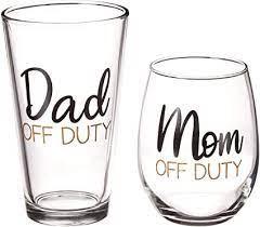 mom dad off duty glass