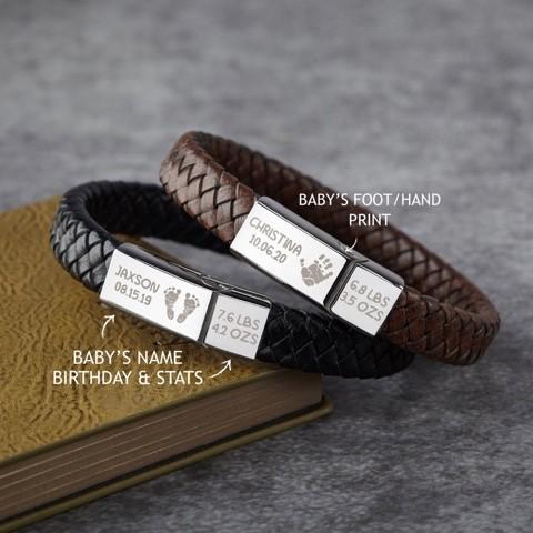baby footprint-bracelet
