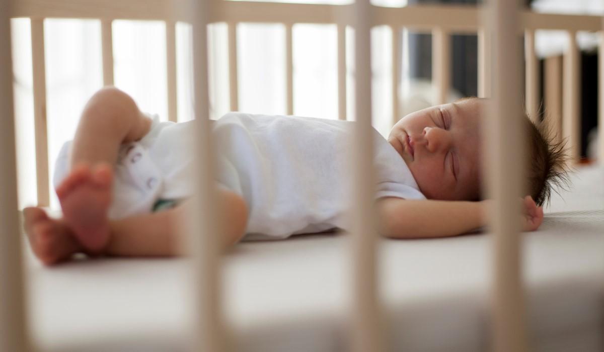 sleeping baby crib
