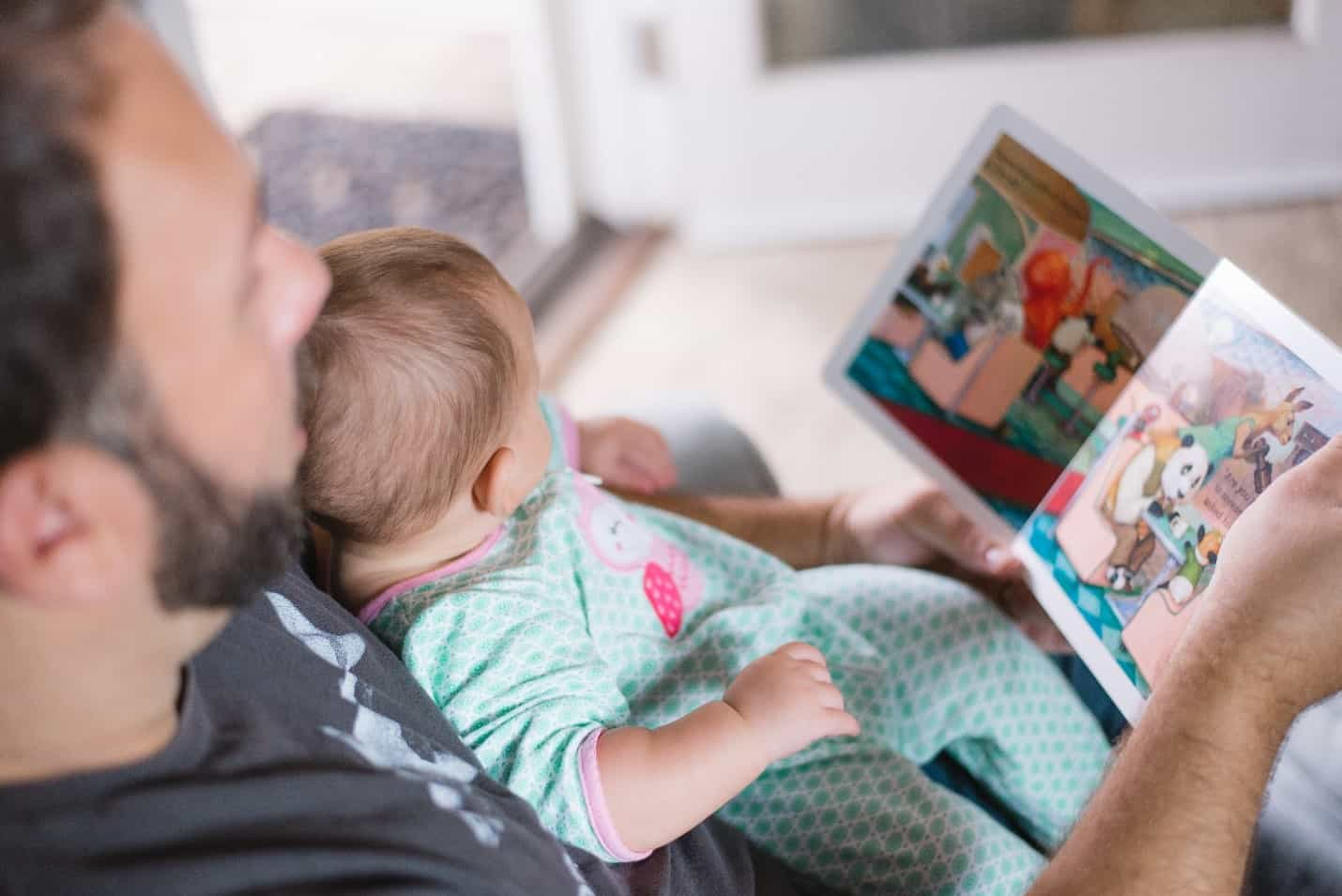 dad baby reading