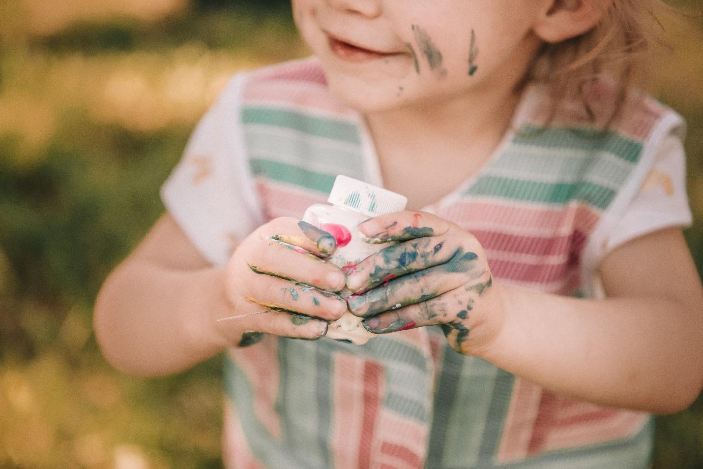 baby finger paint