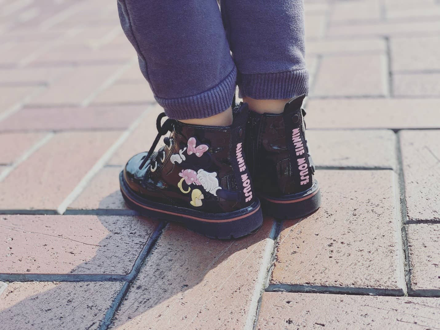 wearing baby shoes