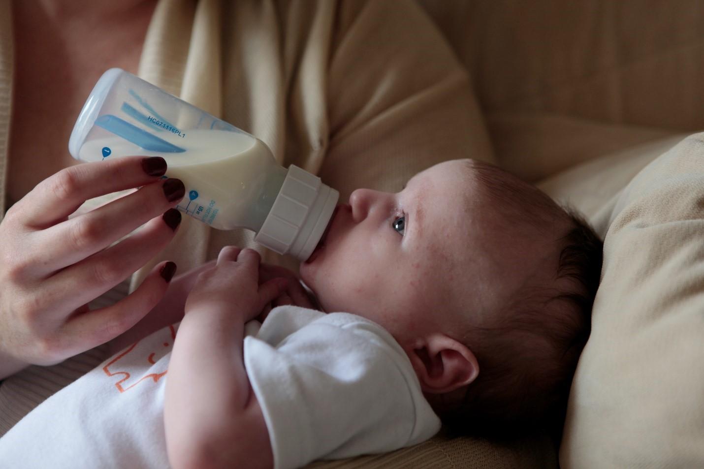 reheated bottle baby