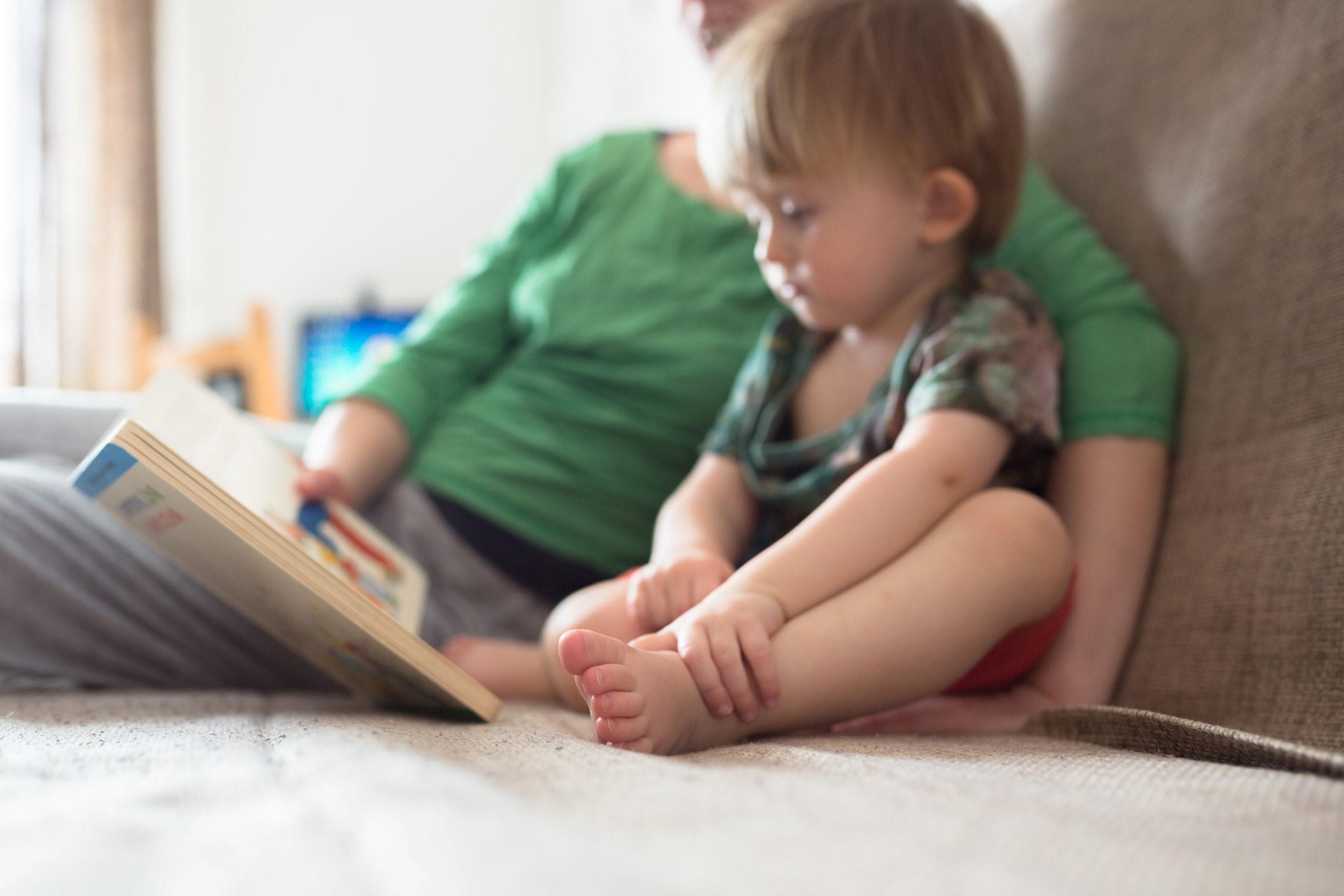 baby parent reading