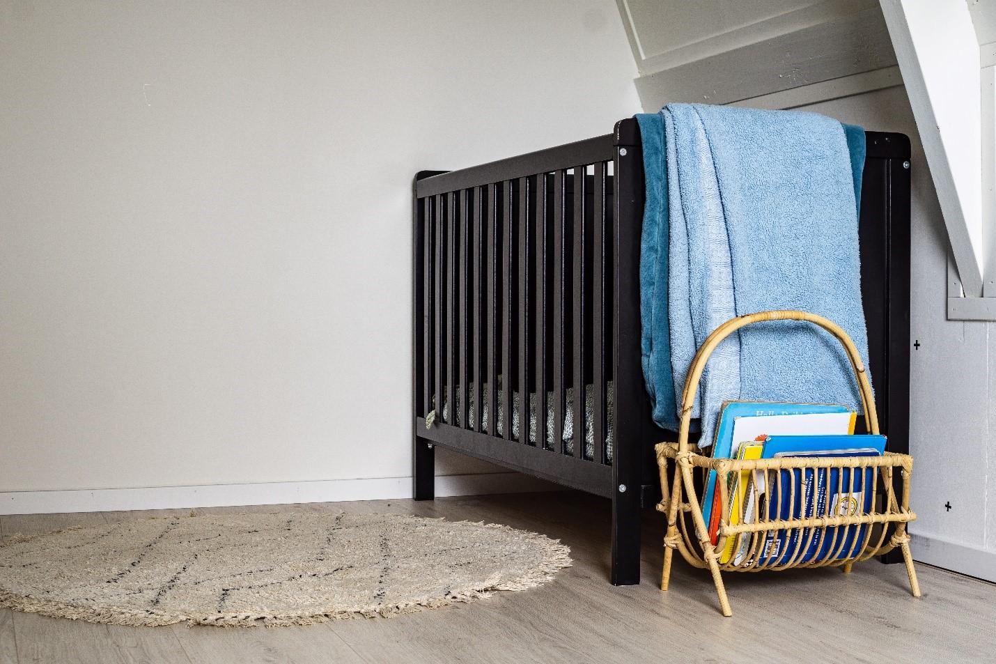 brown crib